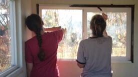 Painting window sills